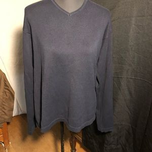 J. Crew 100% Cotton Sweater. Size Med. Navy Blue